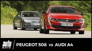 Nouvelle Peugeot 508 vs Audi A4 2018 : duel franco-allemand