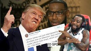 Donald Trump DISSES LeBron James On Twitter Reaction!