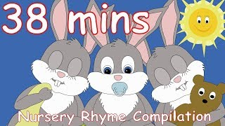 Sleeping Bunnies! And lots more Nursery Rhymes! 38 minutes!