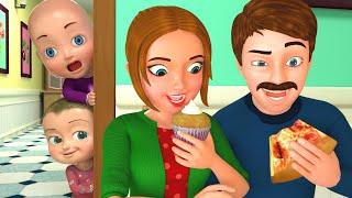 Baby with Papa & Mom Song   BillionSurpriseToys Nursery Rhyme & Kids Songs
