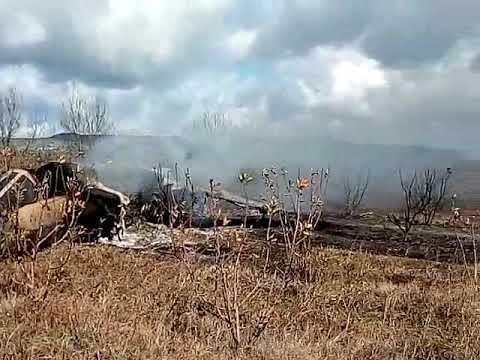 اول فيديو للطائرة العسكرية المحطمة بمدينة تاونات