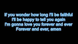 Randy Travis - Forever and ever amen LYRICS