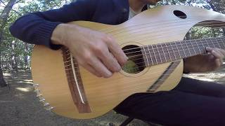 The Sound of Silence - 18 String Harp Guitar Cover