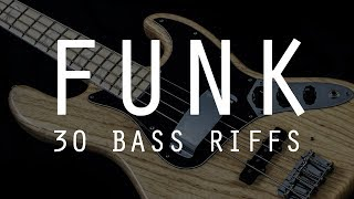 30 Funk Bass Riffs by Bruno Tauzin