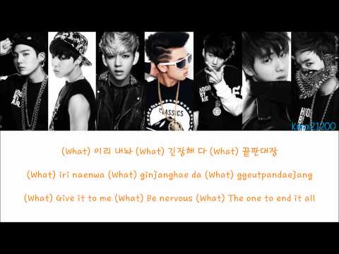 BTS (Bangtan Boys) - Bulletproof [Hangul/Romanization/English] Color & Picture Coded HD