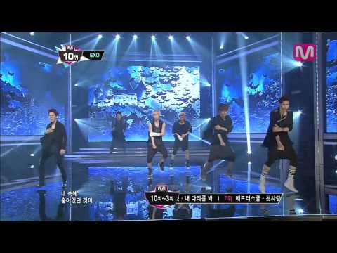 EXO_늑대와 미녀 (Wolf by EXO@M COUNTDOWN 2013.7.4)