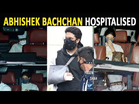 Abhishek Bachchan in hospital, father Amitabh Bachchan, sister Shweta pay a visit