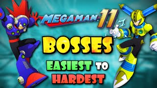 All Mega Man 11 Bosses Ranked from Easiest to Hardest