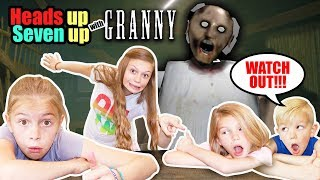 Heads Up Seven Up with Granny in Real Life! Tannerites Heads Up 7 Up and Granny Game!