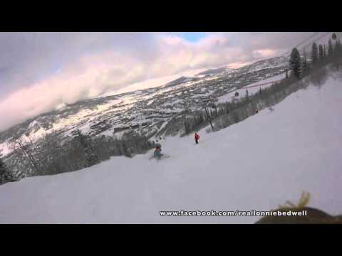 Lonnie Bedwell doing some skiing in Steamboat Springs