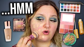 FULL FACE TESTING NEW & OLD MAKEUP.. SHOP MY STASH