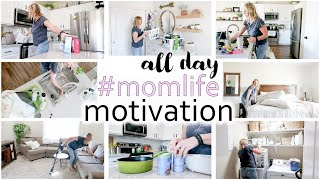 ALL DAY MOM LIFE MOTIVATION - CLEANING + LAUNDRY + ERRANDS + TACO TUESDAY - Intentful Spaces