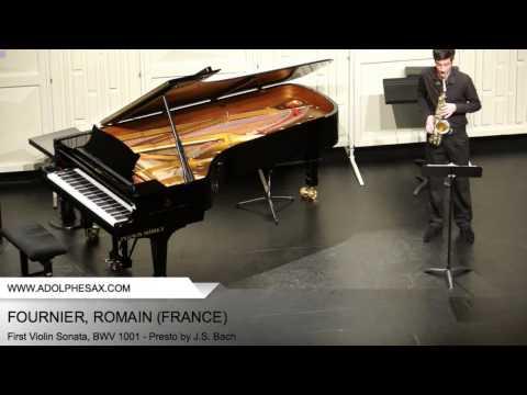 Dinant 2014 - Fournier, Romain - First Violin Sonata, BWV 1001 - Presto by J.S. Bach