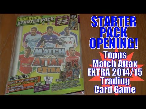 YOUTUBE PREMIERE! ⚽️ topps MATCH ATTAX EXTRA 2014/15 Trading Cards ⚽️ STARTER PACK opening