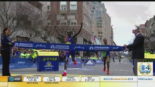 Lawrence Cherono Wins Men's Boston Marathon By One Second In Dramatic Finish