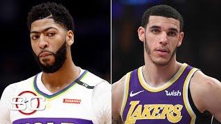 The Lakers offer Lonzo Ball, Brandon Ingram, 4th pick for Anthony Davis  - Woj | SportsCenter