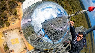 Dropping A GIANT DISCO BALL From 150ft!