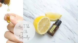 How I take my oils internally....