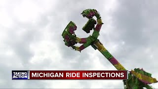 After fatal accident in Ohio, how often are carnival rides inspected in MI?