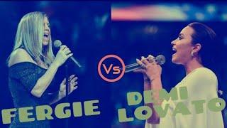 Demi Lovato VS Fergie Singing the 'National Anthem'.