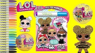 LOL Surprise Dolls Imagine Ink Coloring and Activity Book Queen Bee Miss Punk LOL Surprise Unboxing