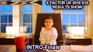 INTRO Eric Cowell as the New Boss   Simon with son & Finalists   Final Results Show X Factor UK 2018