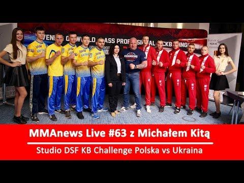 "MMAnews Live #63: Studio DSF Challenge ""Polska vs Ukraina"" z Michałem Kitą od 18:00"