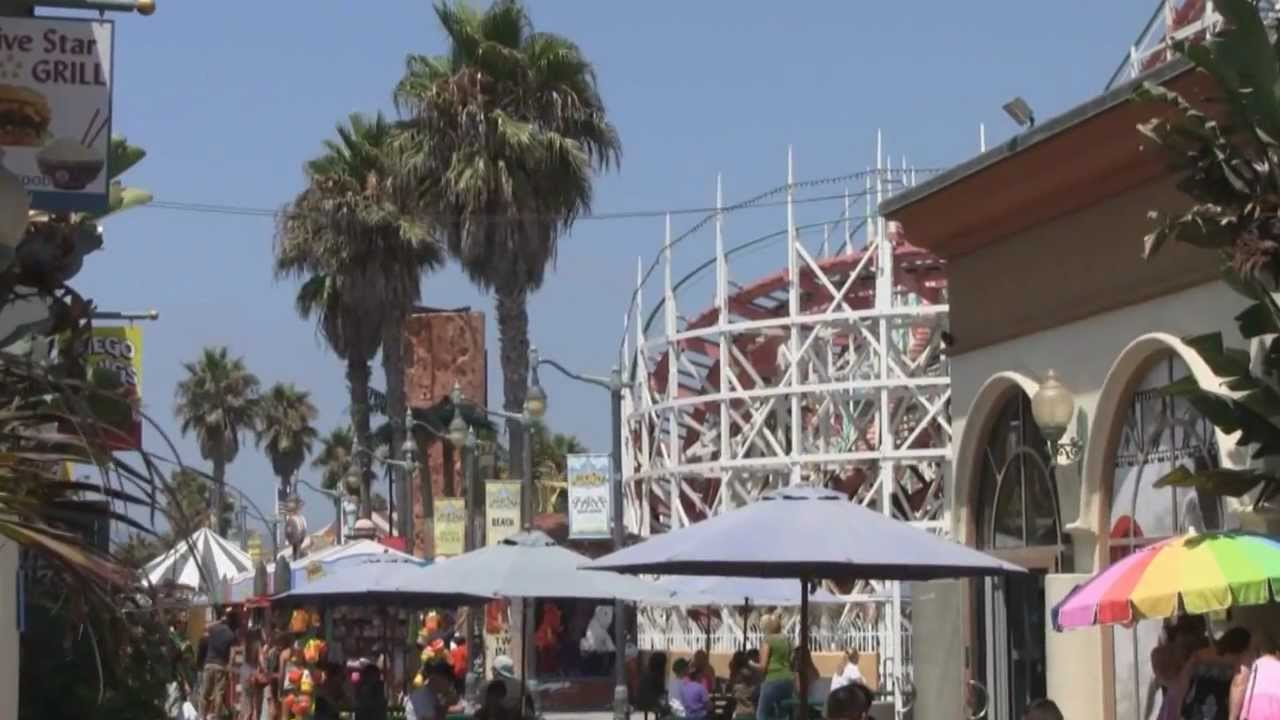 Giant Dipper Roller Coaster Mission Beach Belmont Park
