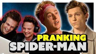 TOM HOLLAND INTERVIEW *PRANK* (EARPIECE) ft Conor Maynard & Caspar Lee
