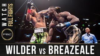 Wilder vs Breazeale FULL FIGHT: May 18, 2019 - PBC on Showtime