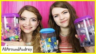 Jelli Slime Aquarium - Blindfolded Tiny Hands Challenge / AllAroundAudrey
