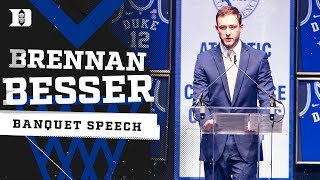 Brennan Besser Senior Speech | 2019 Duke Basketball Banquet