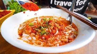 Laotian Food Tour - POOP FISH CHILI DIP and Khao Soi in Luang Prabang, Laos!