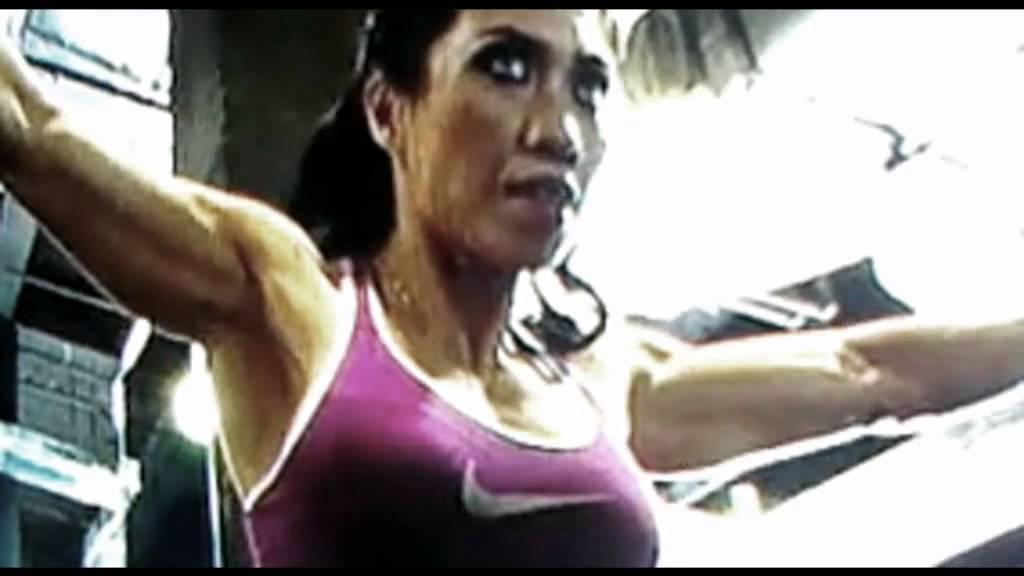 nude female bodybuilding tanning
