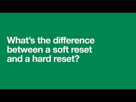 What's the difference between a soft reset and a hard reset?