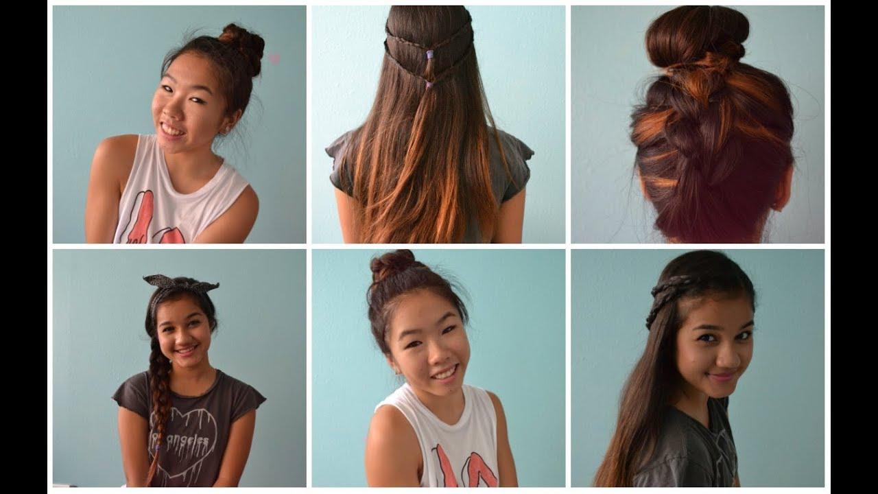 Heatless Hair Styles: 4 Back To School Heatless Hairstyles! ♡