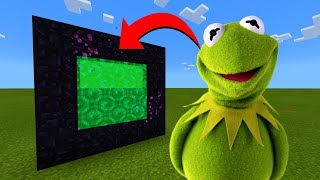 How To Make A Portal To The Kermit The Frog Dimension in Minecraft!