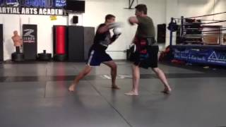 Al Iaquinta training session