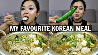 MOST SATISFYING KOREAN MEAL (VEGAN MUKBANG) // Korean weight loss food