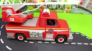 Fire Truck, Train, Excavator, Dump Truck, Police Cars & Tractor Construction Toy Vehicles for Kids