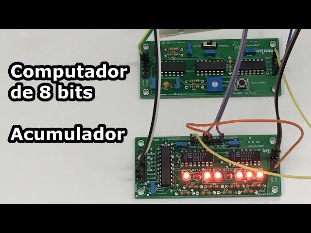 REGISTRADOR ACUMULADOR DO COMPUTADOR DE 8 BITS EM PCB!