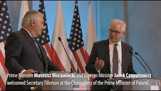 US Secretary of State Rex Tillerson visits Warsaw