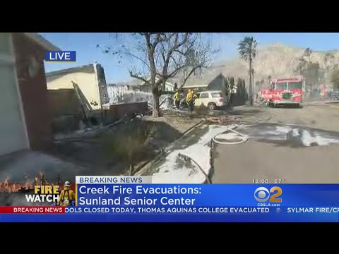 Sylmar Fire Forces Hundreds To Evacuate, Shuts Down 210 Freeway