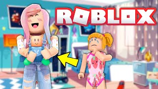 Roblox Family Has a New Baby - Goldie is Jealous - Titi Games Bloxburg Roleplay