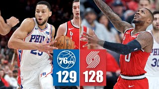 Ben Simmons leads the 76ers to a thrilling finish vs. the Trail Blazers | 2019-20 NBA Highlights