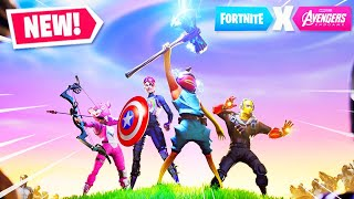 *NEW* AVENGERS GAMEPLAY in Fortnite! FREE AVENGERS EVENT REWARDS (New Fortnite Update LIVE Gameplay)