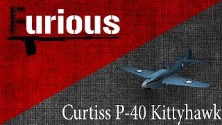 Curtiss P-40. Царапки.