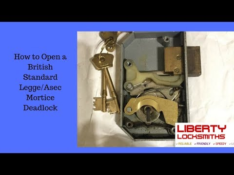 How To Open a British Standard Legge/Asec Mortice Deadlock