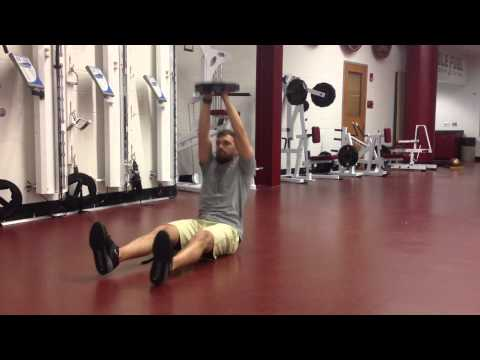 Straight Arm Plate Sit Up