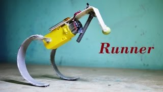 How to make a simple running / hopping robot  - DIY Robot